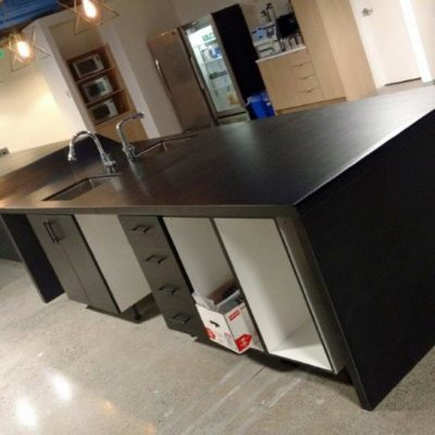 Curved Formed Concrete Countertops