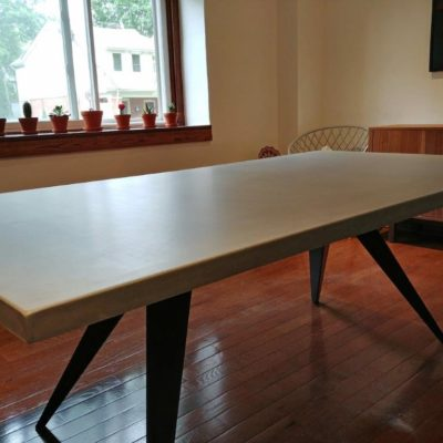 Custom Concrete Dining Table