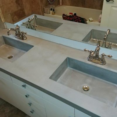 Double Integral Bathroom Sinks