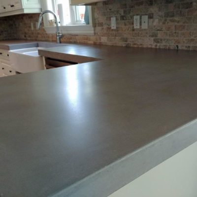 Smooth Polished Concrete Counterops
